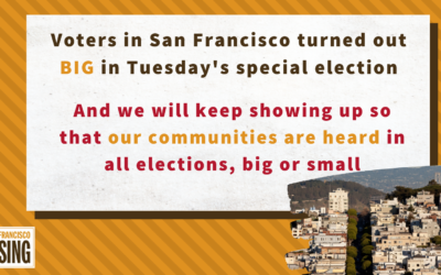 Our communities showed up in the September 14th special election